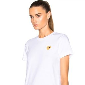PLAY COMME des GARCONS white M medium T-shirt NWT